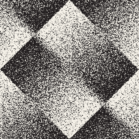 Abstract noisy textured geometric shapes pattern. Vetores