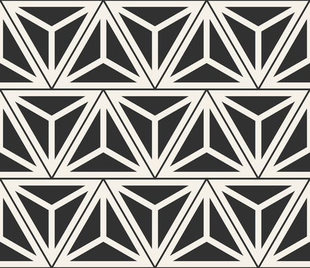 A Vector seamless lines pattern. Modern stylish triangle shapes texture. Repeating geometric tiles from striped elements Illustration