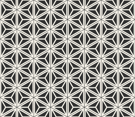 Vector seamless lines pattern. Modern stylish triangle shapes texture. Repeating geometric tiles from striped elements  Illustration