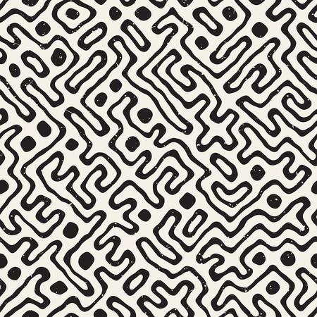 Black and white maze pattern.