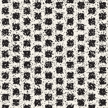 Abstract noisy textured geometric shapes background. Vector seamless vintage grungy pattern.