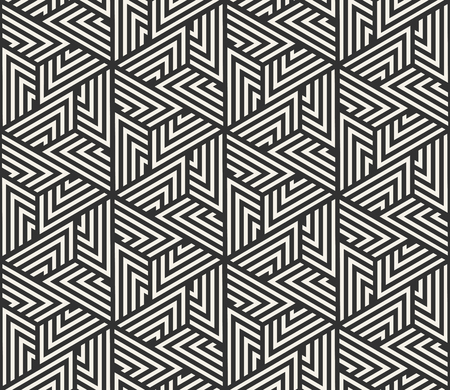 Vector seamless lines pattern. Modern stylish triangle shapes texture. Repeating geometric tiles from striped elements
