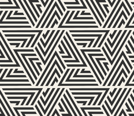 Vector seamless lines pattern. Modern stylish triangle shapes texture. Repeating geometric tiles from striped elements  Ilustrace