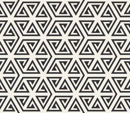 Vector seamless lines pattern. Modern stylish triangle shapes texture. Repeating geometric tiles from striped elements.