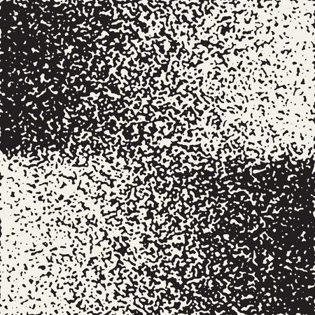 Abstract noisy textured geometric shapes pattern. Ilustração Vetorial