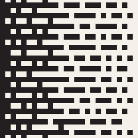 Irregular lines halftone black and white color transition abstract pattern.