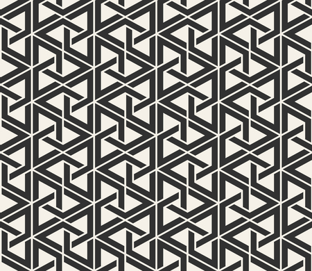 Vector seamless lines pattern. Modern stylish triangle shapes texture. Repeating geometric tiles from striped elements Ilustração