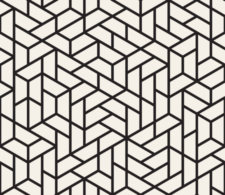 Vector seamless pattern. Modern stylish texture. Repeating geometric tiles from striped triangle elements  Ilustração
