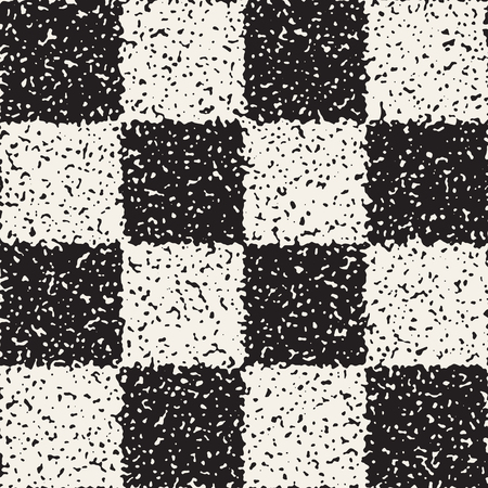 Black and white checkered pattern. Ilustração
