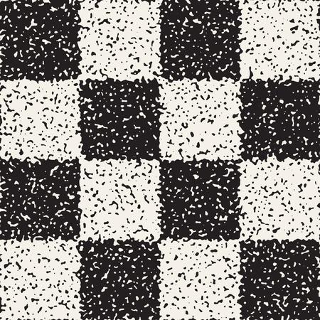 Black and white checkered pattern. Illustration