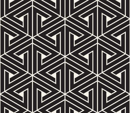 Patrón transparente de vector. Textura moderna y elegante. Repitiendo fichas geométricas de elementos de triángulo rayados. Ilustración de vector