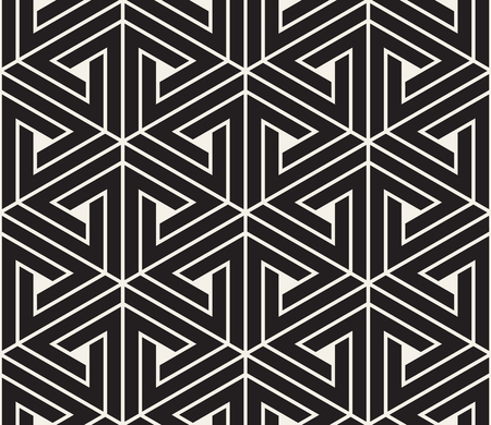 Vector seamless pattern. Modern stylish texture. Repeating geometric tiles from striped triangle elements.