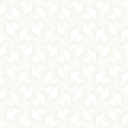 Vector seamless subtle stripes pattern. Modern stylish texture with monochrome trellis. Repeating geometric hexagonal grid. Simple lattice graphic design.