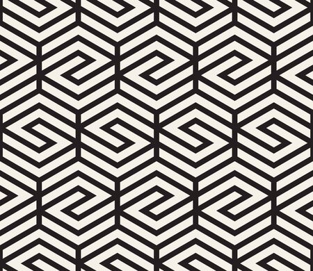 Vector seamless pattern. Modern stylish abstract texture. Repeating geometric tiles from striped elements Illustration