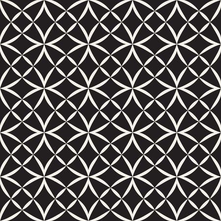 Vector seamless pattern. Modern stylish texture. Geometric striped ornament. Monochrome linear lattice