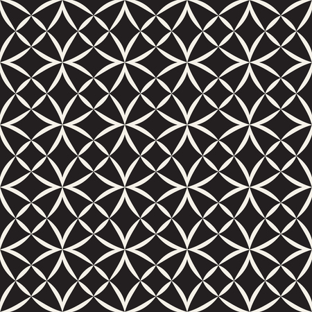 Vector seamless pattern. Modern stylish texture. Geometric striped ornament. Monochrome linear lattice