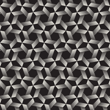 A Vector seamless stripes pattern. Modern stylish texture with monochrome trellis. Repeating geometric hexagonal grid. Simple lattice graphic design. Vectores