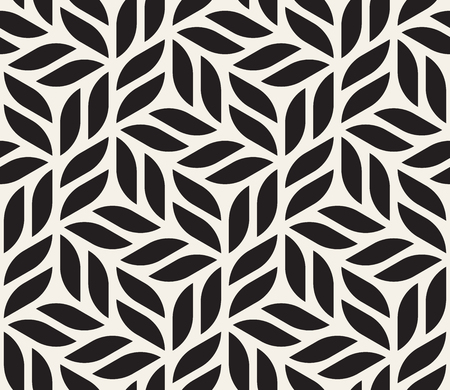 Vector seamless pattern. Modern stylish abstract texture. Repeating geometric tiles from striped elements Banco de Imagens - 95036585