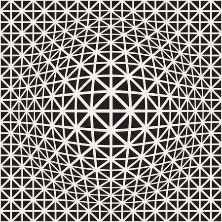 Halftone bloat effect optical illusion. Abstract geometric background design. Vector seamless retro black and white pattern. Stok Fotoğraf - 95088337