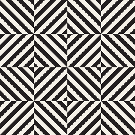 Vector seamless stripes pattern. Modern stylish texture with monochrome trellis. Repeating geometric grid. Simple lattice graphic design. Illustration