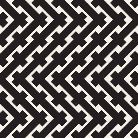 Braiding Background of Intersecting Stripes Lattice. Black and White Geometric Vector Illustration. Illusztráció