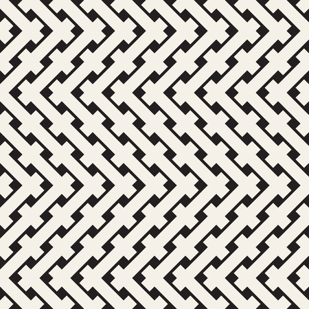 Braiding Background of Intersecting Stripes Lattice. Black and White Geometric Vector Illustration. Stock fotó - 95483491