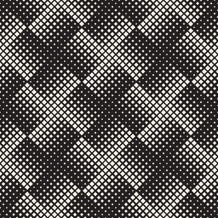 Stylish halftone texture endless abstract background with random size shapes vector seamless vintage mosaic pattern. Illustration