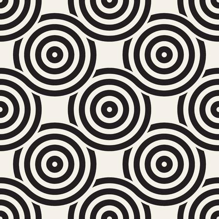 Ein Vektor nahtlose abgerundete Linien Textur . Moderne geometrische kreisförmige Form Hintergrund Standard-Bild - 95579337