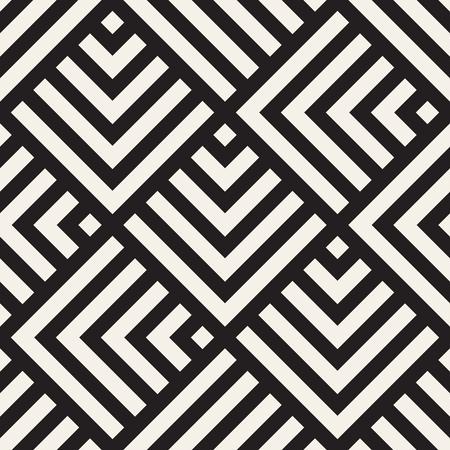 Vector seamless lines mosaic pattern Illustration