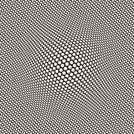 Halftone bloat effect optical illusion