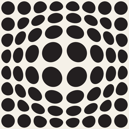 Halftone bloat effect optical illusion