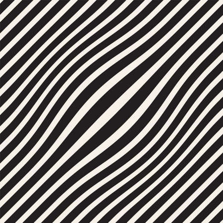 Halftone bloat effect optical illusion. Abstract geometric background design. Vector seamless retro black and white pattern. Stock Photo