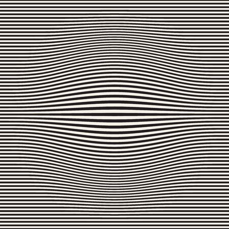 Halftone bloat effect optical illusion. Abstract geometric background design. Vector seamless retro black and white pattern. Stock Photo - 95860423