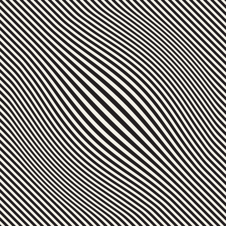 Halftone bloat effect optical illusion. Abstract geometric background design. Vector seamless black and white pattern. Çizim