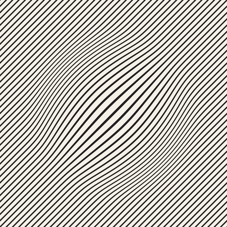 Halftone bloat effect optical illusion. Abstract geometric background design. Vector seamless retro black and white pattern. Stok Fotoğraf - 95996961