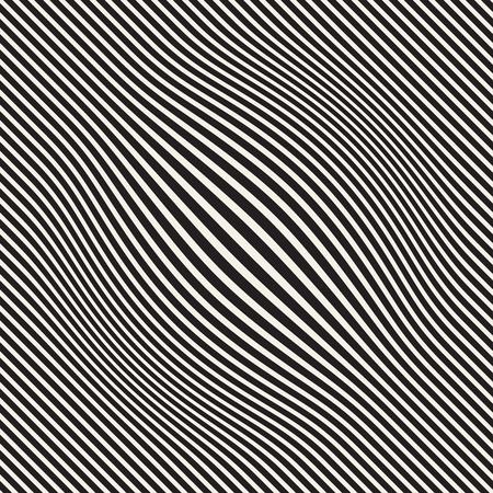 Halftone bloat effect optical illusion vector illustration Çizim