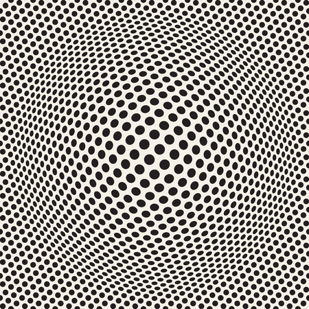 Halftone bloat effect optical illusion. Abstract geometric background design. Vector seamless retro pattern. Stok Fotoğraf - 96207631