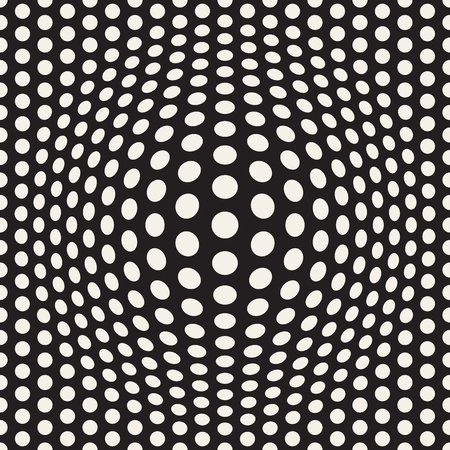 Halftone bloat effect optical illusion. Abstract geometric background design. Vector seamless retro pattern. Stok Fotoğraf - 96207632