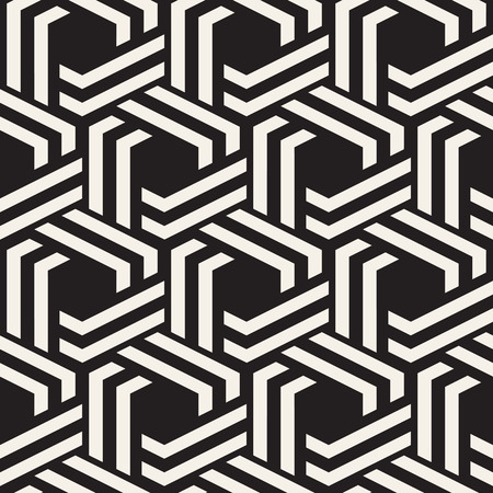 Vector seamless abstract pattern. Modern stylish minimalistic texture. Repeating geometric background with hexagons. Illustration