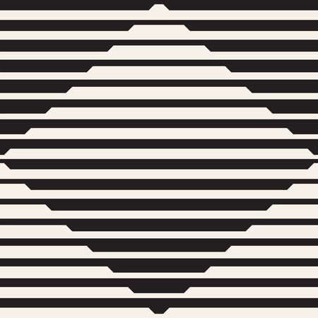 Vector seamless black and white halftone lines pattern. Abstract geometric retro background design. Imagens - 96605954