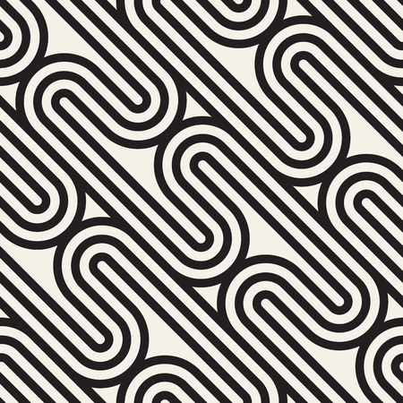 Vector seamless lattice pattern. Modern stylish texture with monochrome trellis. Vettoriali