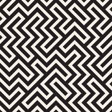 Irregular maze line lattice. Abstract geometric background design. Vector seamless pattern.