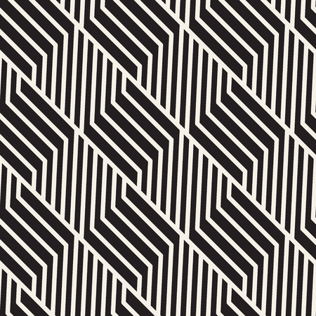 Vector seamless lattice pattern. Modern stylish texture with monochrome trellis. Repeating geometric grid. Simple design background.  イラスト・ベクター素材