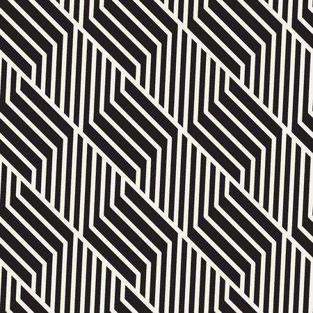 Vector seamless lattice pattern. Modern stylish texture with monochrome trellis. Repeating geometric grid. Simple design background. Illustration