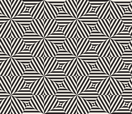 Vector seamless pattern. Modern stylish abstract texture. Repeating geometric tiles from striped elements 免版税图像 - 96806194