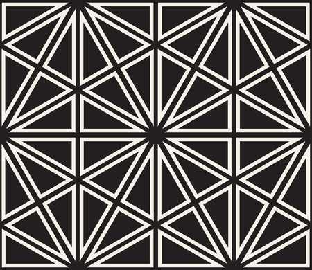 A Vector seamless pattern. Modern stylish abstract texture. Repeating geometric tiles from striped elements