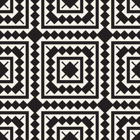 A Seamless surface geometric design. Repeating tiles ornament background Vector symmetric shapes pattern Çizim