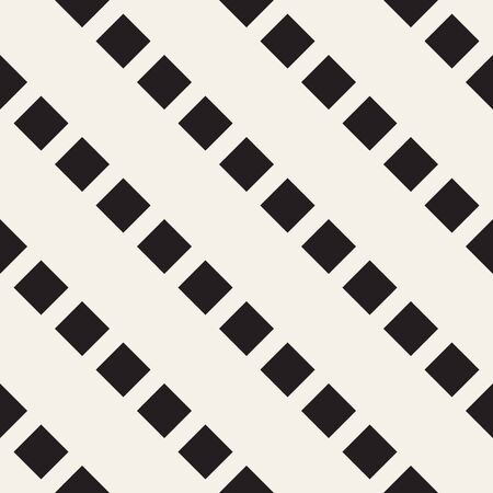 Trendy monochrome twill weave Lattice. Abstract Geometric Background Design. Vector Seamless Black and White Pattern.