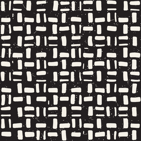 Hand drawn seamless repeating pattern with lines tiling. Grungy freehand background texture. 向量圖像