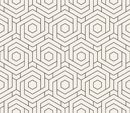 Vector seamless pattern. Modern stylish abstract texture. Repeating geometric tiles Ilustração